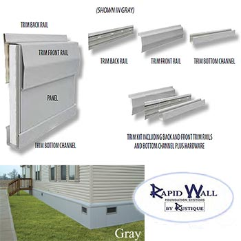 14x60 Rapid Wall Mobile Home Insulated Skirting Package
