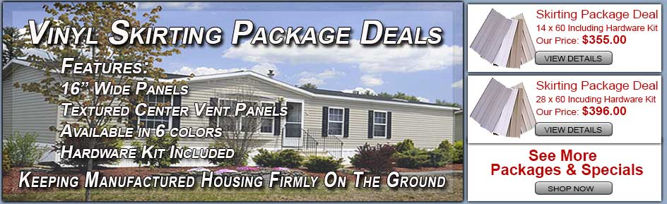 Complete Mobile Home Skirting Packages