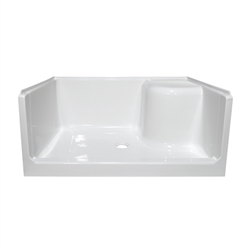 48 Quot One Seat Fiberglass Shower Pan