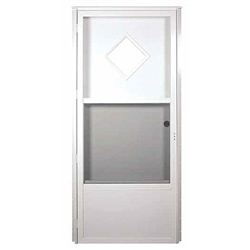 Series 6000 housetype combo door w diamond window - Mobile home combination exterior doors ...