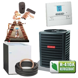 Complete 16 Seer Heat Pump System W Furnace