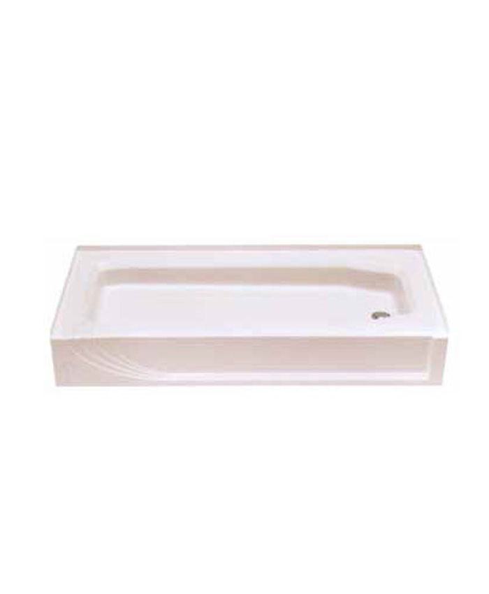54x27 Fiberglass Shower Pan