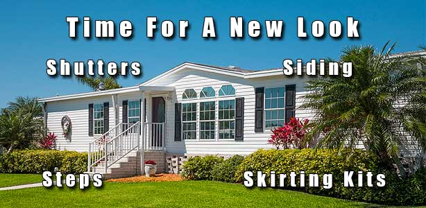 Mobile Home Shutters, Siding, Steps, Skirting Kits