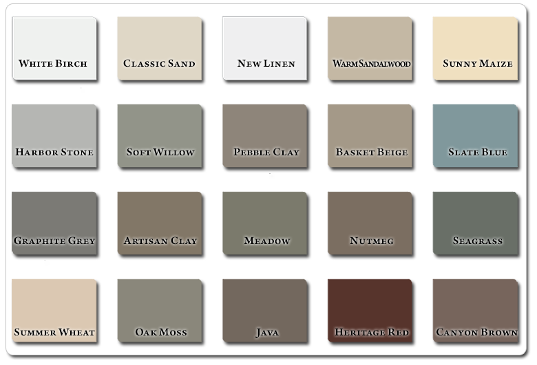 Vinyl Siding In A Variety of 20 Attractive Colors