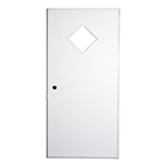Elixir 200 Series Exterior Out Swing Door White/ Brown w/ 10 x 10 Diamond Window