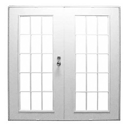 Out swing mobile home french exterior double doors for Outswing french doors home depot