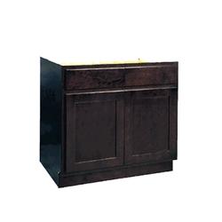 Mobile Home Kitchen Base Cabinet Espresso 18x34 5x24