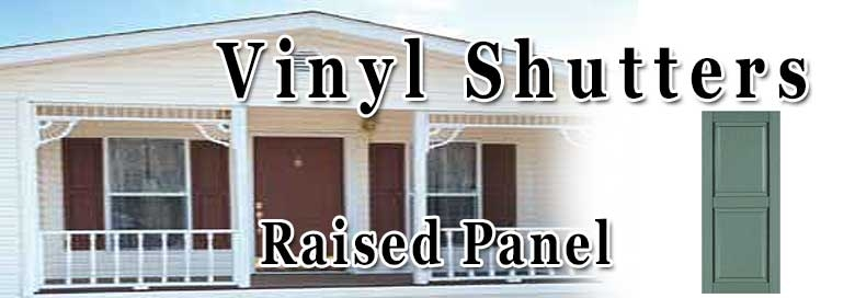 mobile home raised panel shutters