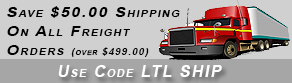 Save $50.00 On Freight Orders
